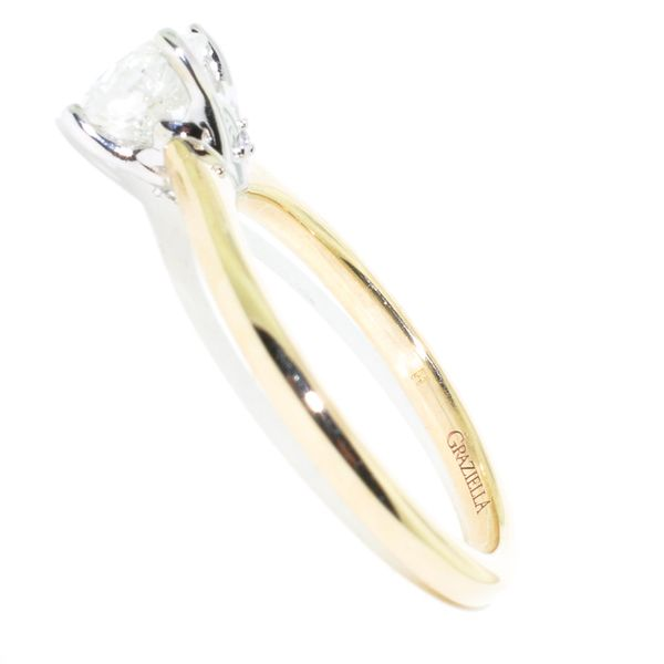 14KT Yellow Gold 1.19CT I-2 Diamond Engagement Ring. Image 2 Graziella Fine Jewellery Oshawa, ON