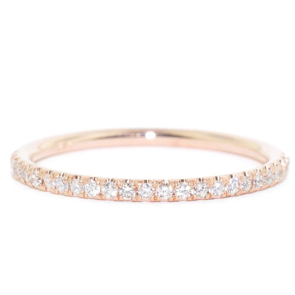14KT Rose Gold 0.14CTW Diamond Wedding Band. Graziella Fine Jewellery Oshawa, ON