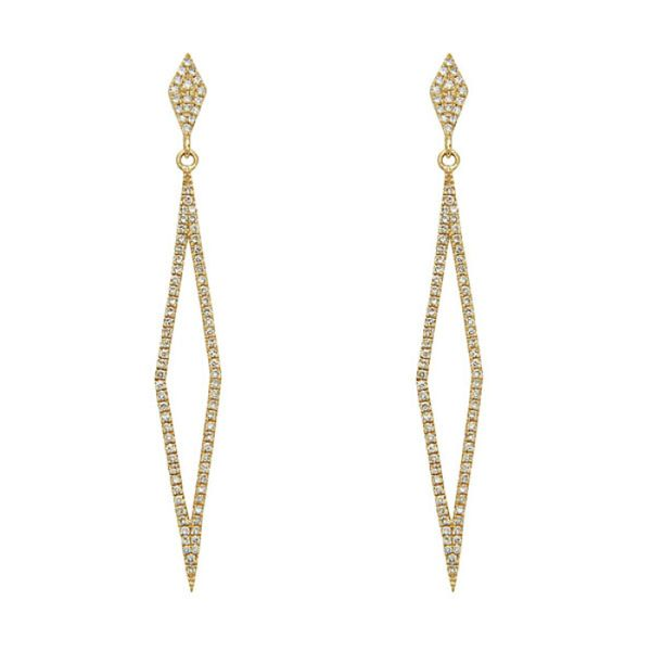 14KT Yellow Gold 0.40CTW Diamond Drop Earrings. Graziella Fine Jewellery Oshawa, ON