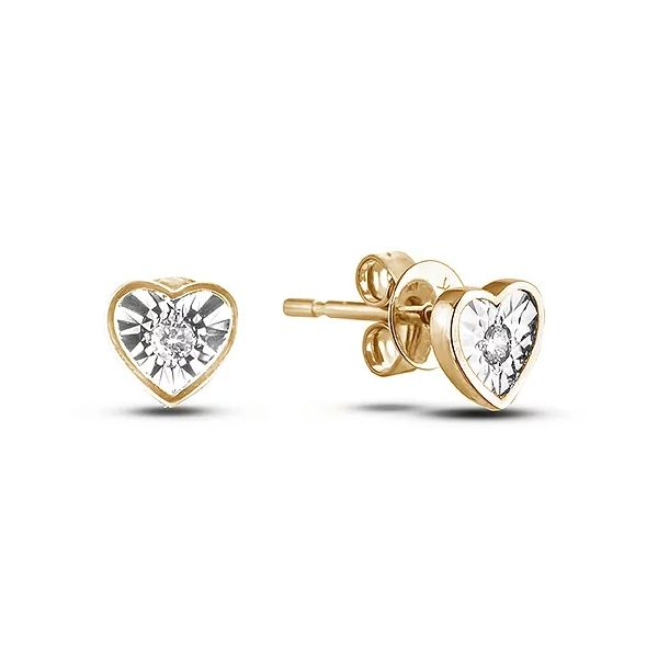 Polar Light 10KT Yellow Gold 0.04CTW Diamond Earrings. Graziella Fine Jewellery Oshawa, ON