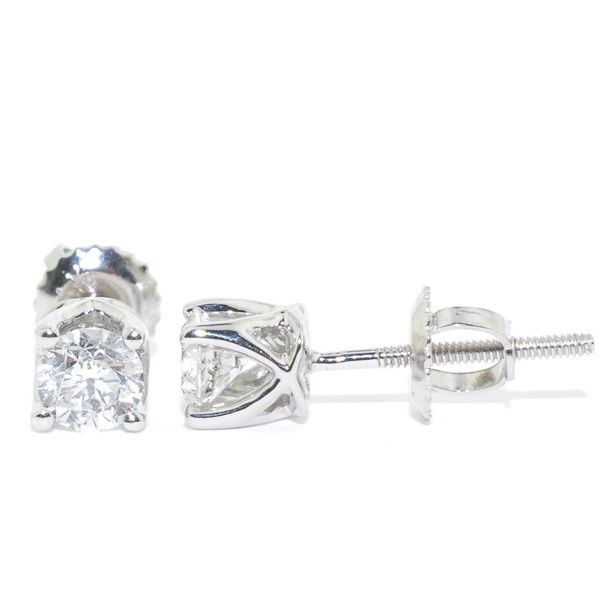14KT White Gold 0.50CTW Diamond Stud Earrings. Graziella Fine Jewellery Oshawa, ON