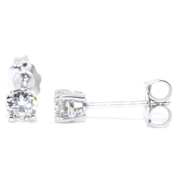 14KT White Gold 0.36CTW I1 I Colour Diamond Stud Earrings. Graziella Fine Jewellery Oshawa, ON