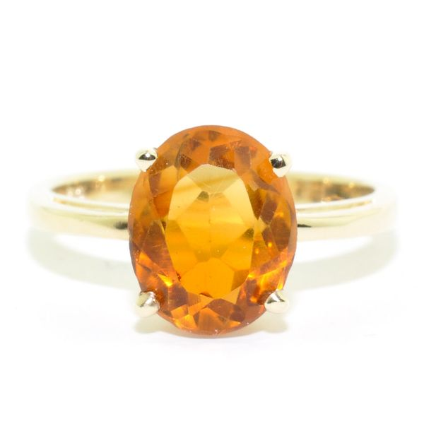 10KT Yellow Gold 2.19CT Citrine Ring. Graziella Fine Jewellery Oshawa, ON