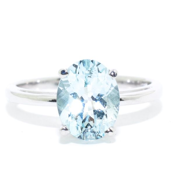 10KT White Gold 1.63CT Aquamarine Ring. Graziella Fine Jewellery Oshawa, ON