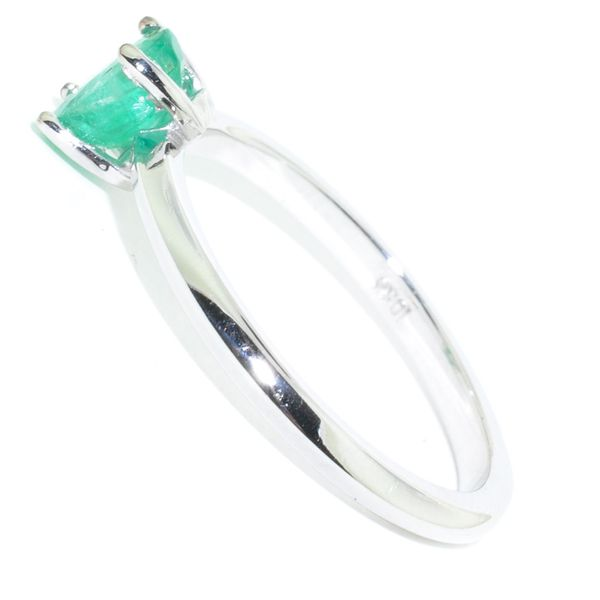 10KT White Gold 0.59CT Emerald Ring. Image 2 Graziella Fine Jewellery Oshawa, ON
