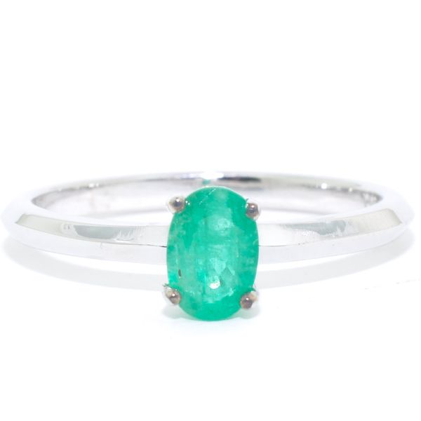 10KT White Gold 0.59CT Emerald Ring. Graziella Fine Jewellery Oshawa, ON