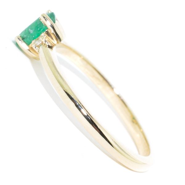 10KT Yellow Gold 0.46CT Emerald and Diamond Ring. Image 2 Graziella Fine Jewellery Oshawa, ON