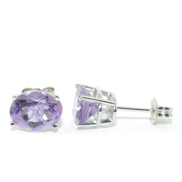 14KT White Gold 2.05CTW Amethyst Stud Earrings. Graziella Fine Jewellery Oshawa, ON