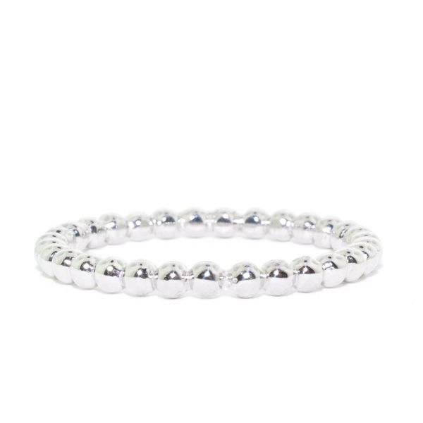 Belle & Jules 14KT White Gold 1.4MM Beaded Ring. Graziella Fine Jewellery Oshawa, ON