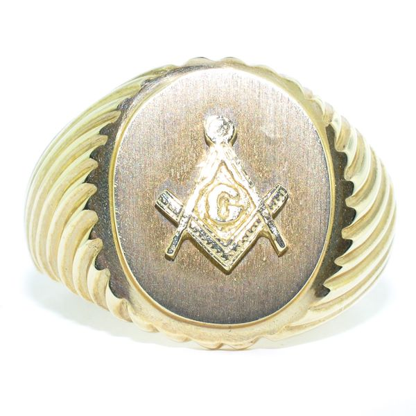 10KT Yellow Gold Masonic Ring. Graziella Fine Jewellery Oshawa, ON