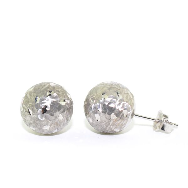 10KT White Gold 13MM Ball Stud Earrings. Graziella Fine Jewellery Oshawa, ON