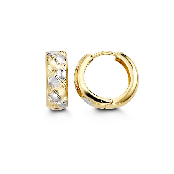 Bella 10KT Two-Tone Earrings. Graziella Fine Jewellery Oshawa, ON
