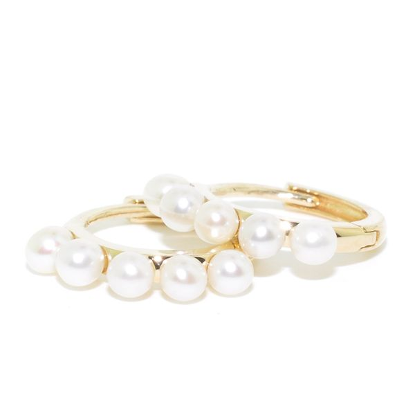 Belle & Jules 14Kt Yellow Gold 10MM Pearl Huggie Earrings. Graziella Fine Jewellery Oshawa, ON