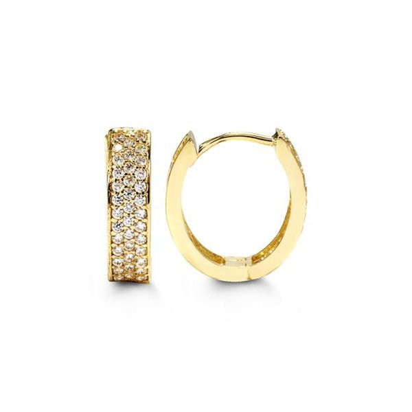 Bella 10KT Yellow Gold C.Z. Earrings. Graziella Fine Jewellery Oshawa, ON