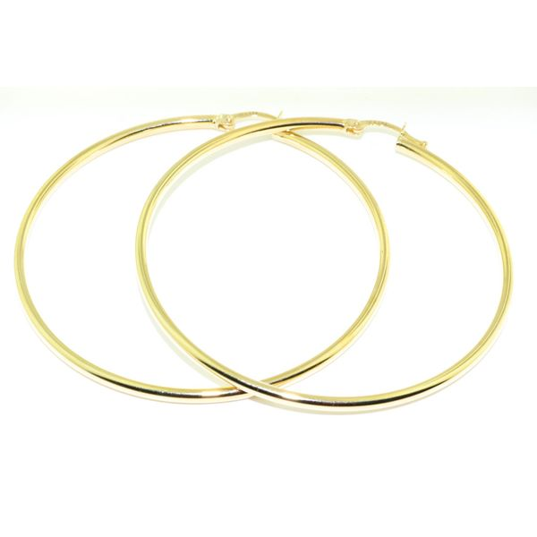 10KT Yellow Gold 40MM Hoop Earrings. Graziella Fine Jewellery Oshawa, ON