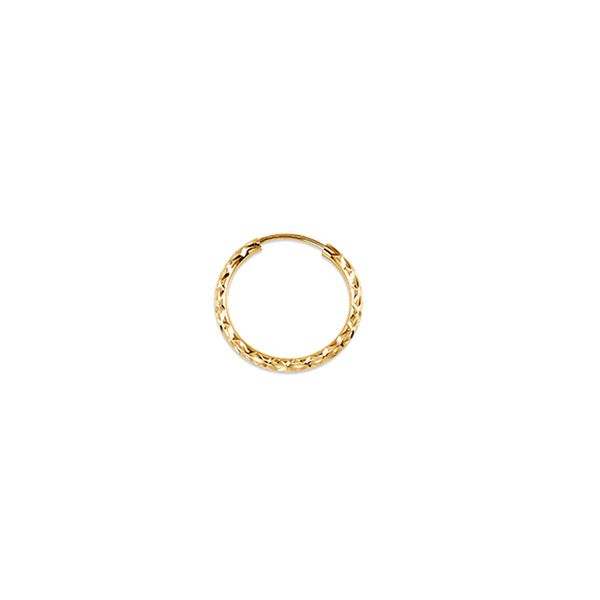 Bella 'Dazzles' 10KT Yellow Gold 15MM Hoop Earrings. Graziella Fine Jewellery Oshawa, ON