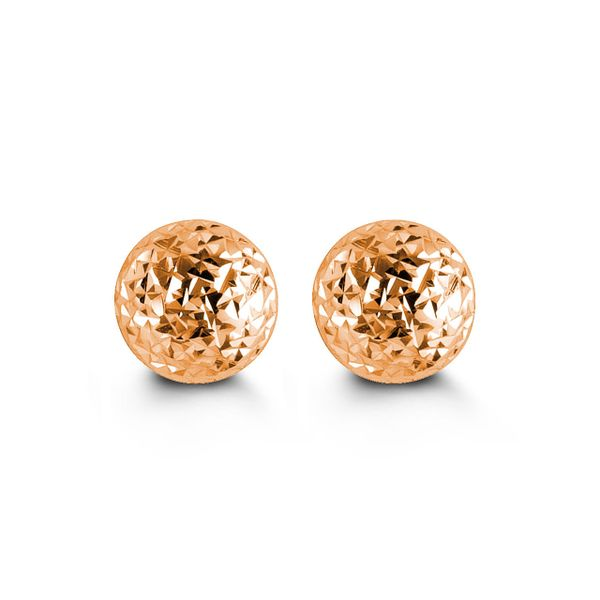 10KT Rose Gold 7MM Ball Stud Earrings. Graziella Fine Jewellery Oshawa, ON