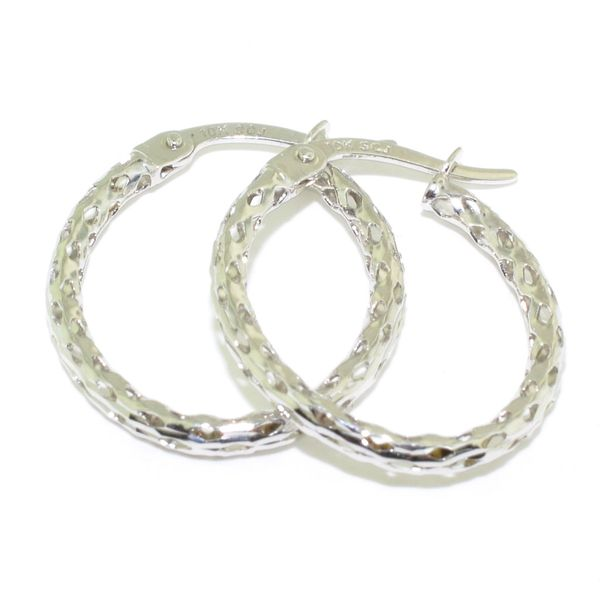 10KT White Gold 20MM Hoop Earrings. Graziella Fine Jewellery Oshawa, ON