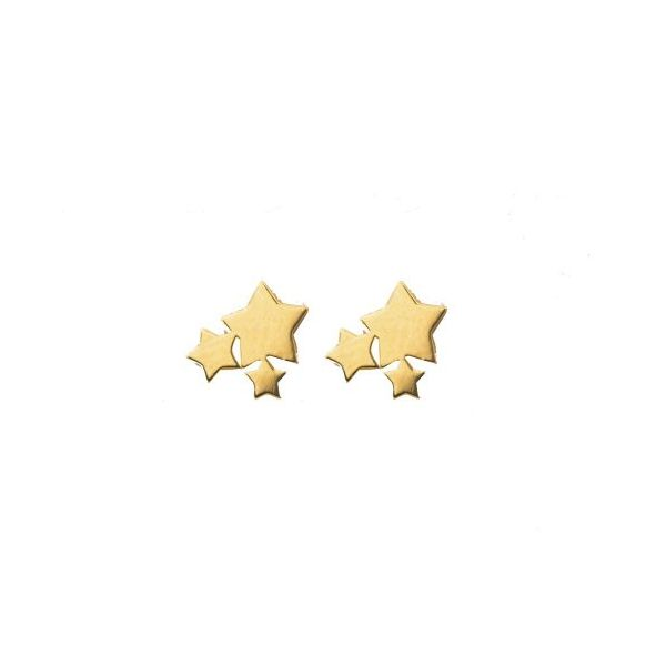 Belle & Jules 10KT Yellow  Gold Multiple Star Stud Earrings. Graziella Fine Jewellery Oshawa, ON