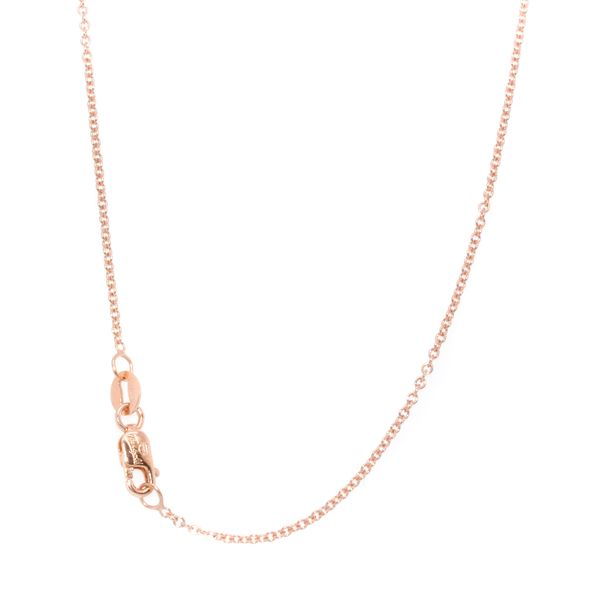 10KT Rose Gold Rolo Chain 22