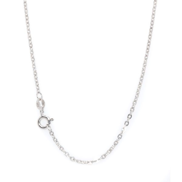 10KT White Gold Rolo Chain 18