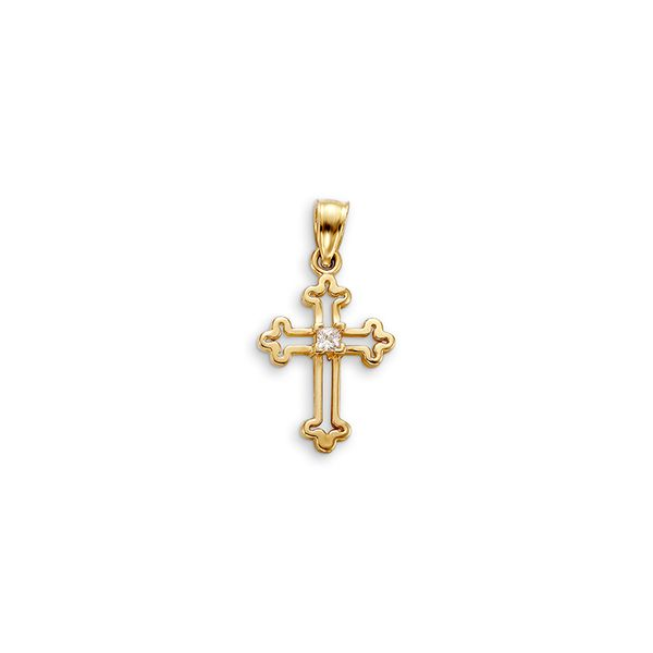 Bella 'Faith' 10KT Yellow Gold and C.Z. Cross. Graziella Fine Jewellery Oshawa, ON