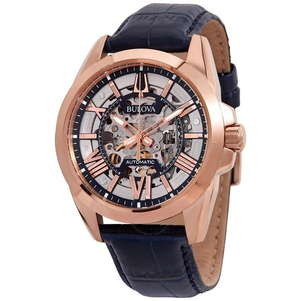 Bulova Sutton 43MM 3 Hands Automatic skeleton Watch. 97A161 Graziella Fine Jewellery Oshawa, ON