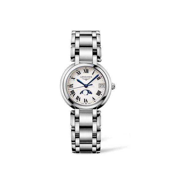 Longines PrimaLuna 30mm Stainless Steel Moonphase. L81154716. Graziella Fine Jewellery Oshawa, ON