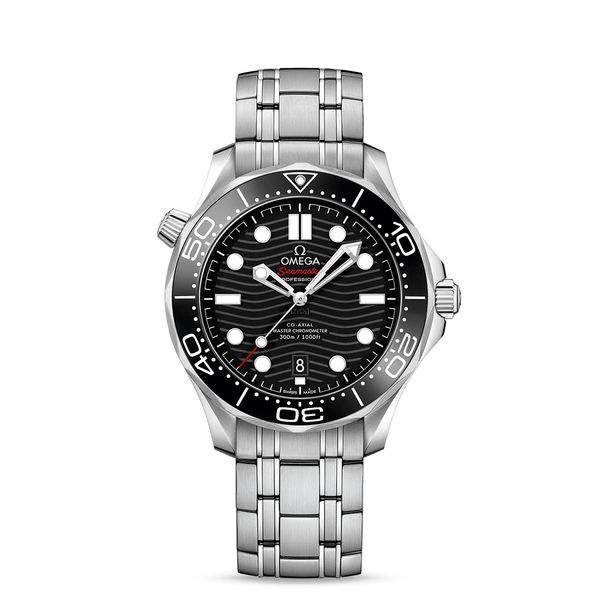 Omega Seamaster Diver 300M Co-Axial Master Chronometer 42MM Watch. Steel on steel. 21030422001001. Graziella Fine Jewellery Oshawa, ON