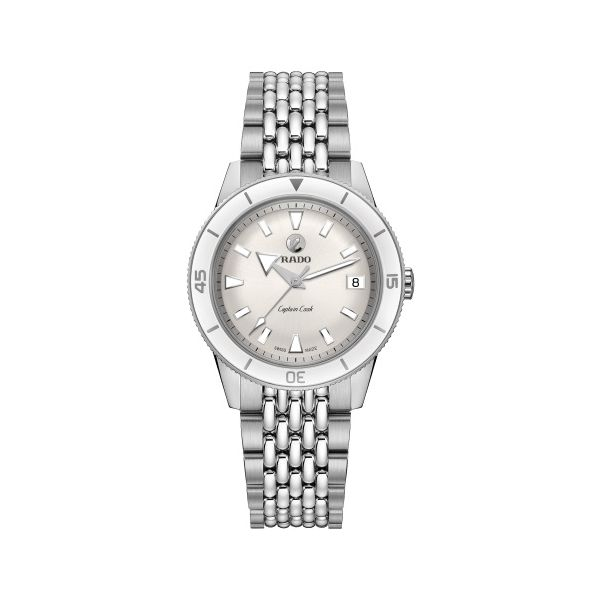 Rado Captain Cook 37MM Automatic Watch with White Dial. R32500013 Graziella Fine Jewellery Oshawa, ON