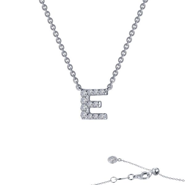 LAfonn Sterling silver C.Z Letter E Initial Necklace. Graziella Fine Jewellery Oshawa, ON