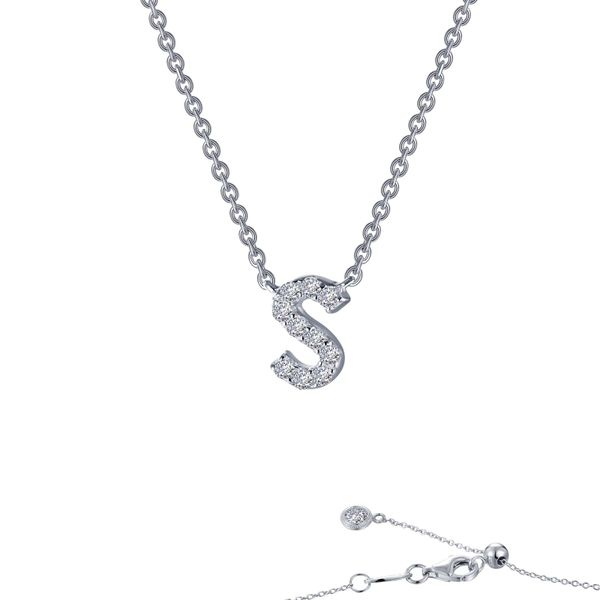 LAfonn Sterling silver C.Z Letter S Initial Necklace. Graziella Fine Jewellery Oshawa, ON