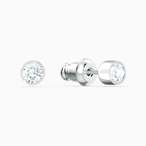 Swarovski Tennis Stud Pierced Earrings. Image 2 Graziella Fine Jewellery Oshawa, ON