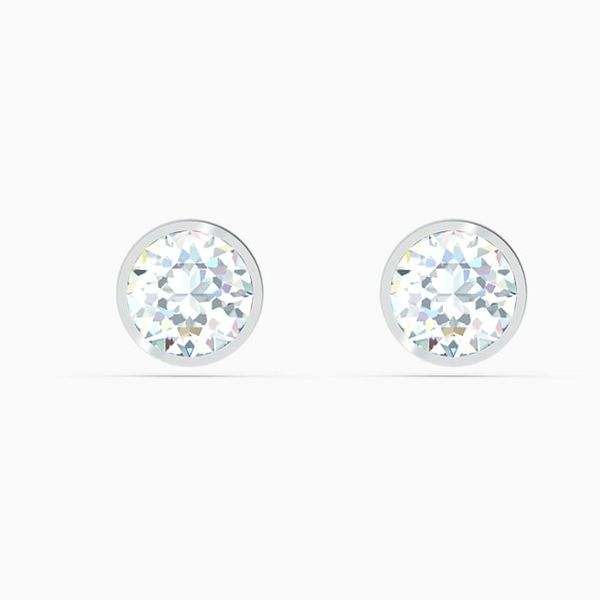 Swarovski Tennis Stud Pierced Earrings. Graziella Fine Jewellery Oshawa, ON