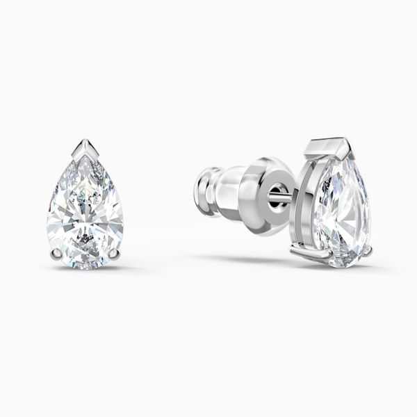 Swarovski Attract Pear stud Pierced Earrings. Image 2 Graziella Fine Jewellery Oshawa, ON