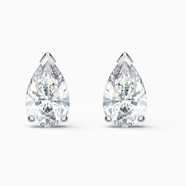 Swarovski Attract Pear stud Pierced Earrings. Graziella Fine Jewellery Oshawa, ON