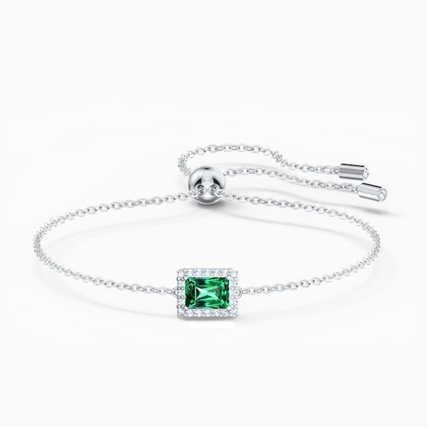 Swarovski Angelic Rectangular bracelet Green. Graziella Fine Jewellery Oshawa, ON