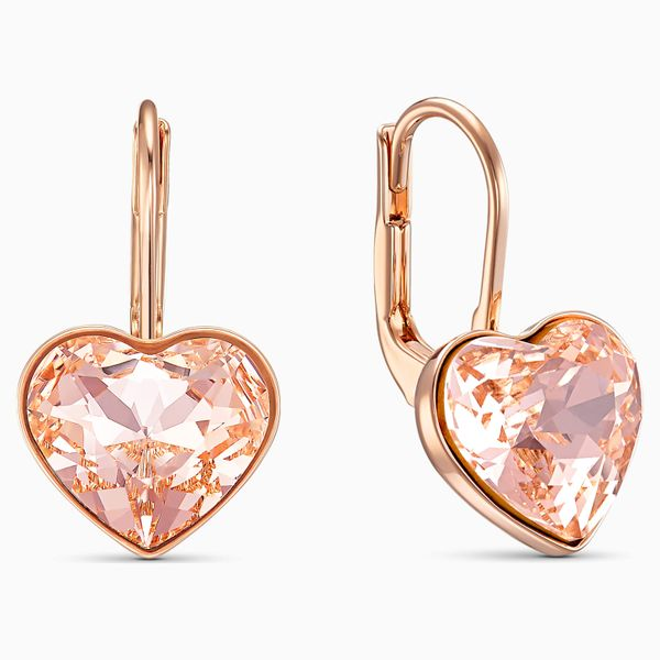 Swarovski Bella Pink Rose Tone Earrings. Image 2 Graziella Fine Jewellery Oshawa, ON