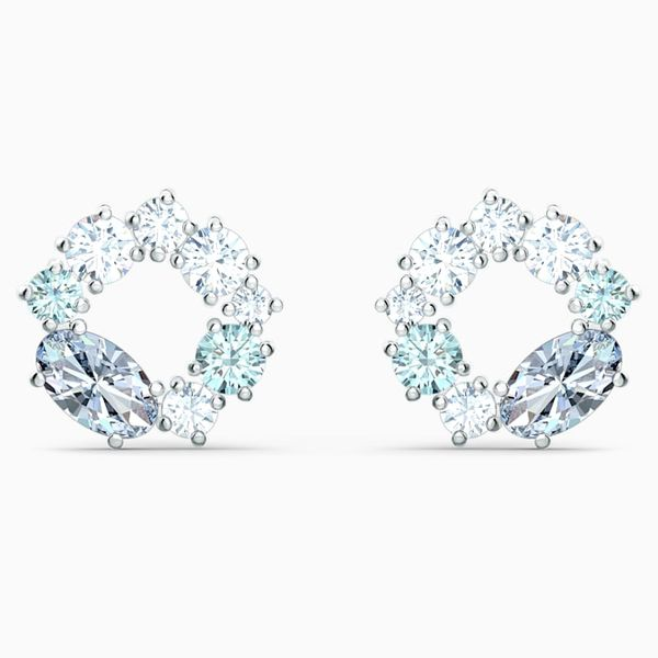 Swarovski Attract circle Stud Pierced Earrings. Graziella Fine Jewellery Oshawa, ON