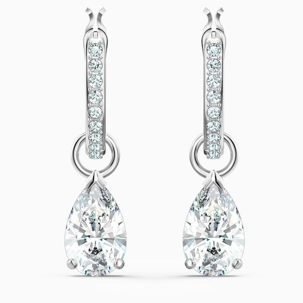 Swarovski Attract Mini Pear shape Pierced Earrings. Graziella Fine Jewellery Oshawa, ON