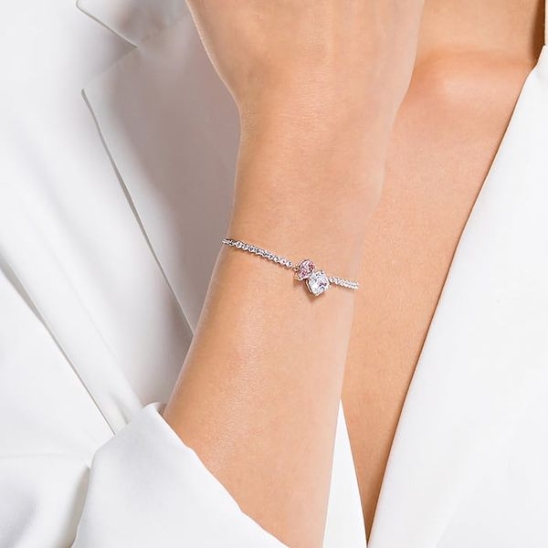 Swarovski Attract Soul Bracelet, Pink, Rhodium plated Image 2 Graziella Fine Jewellery Oshawa, ON