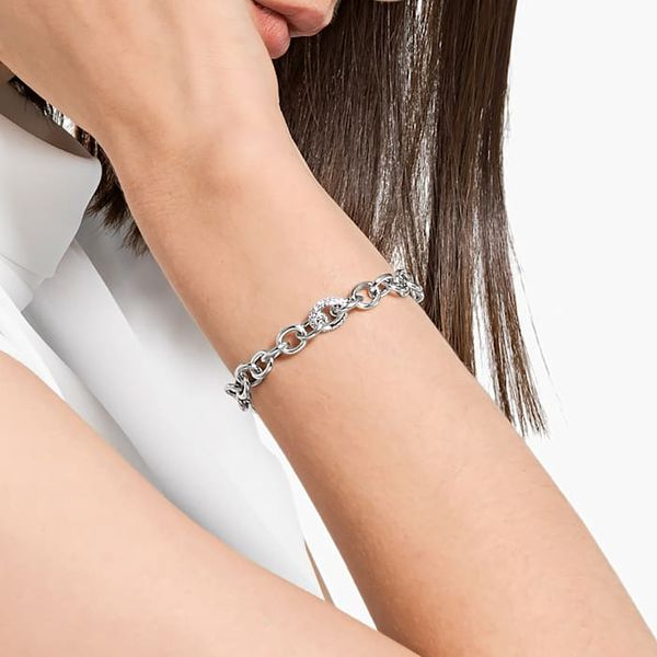 Swarovski The Elements Chain Bracelet White, Rhodium plated Image 2 Graziella Fine Jewellery Oshawa, ON