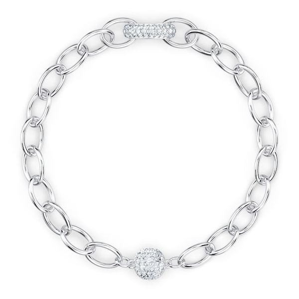 Swarovski The Elements Chain Bracelet White, Rhodium plated Graziella Fine Jewellery Oshawa, ON