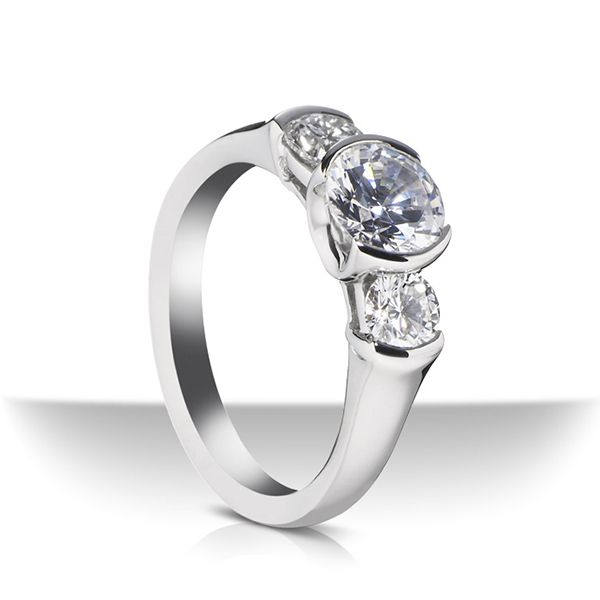 Vashon Three Stone Engagement Ring Hamilton Hill Jewelry Durham, NC