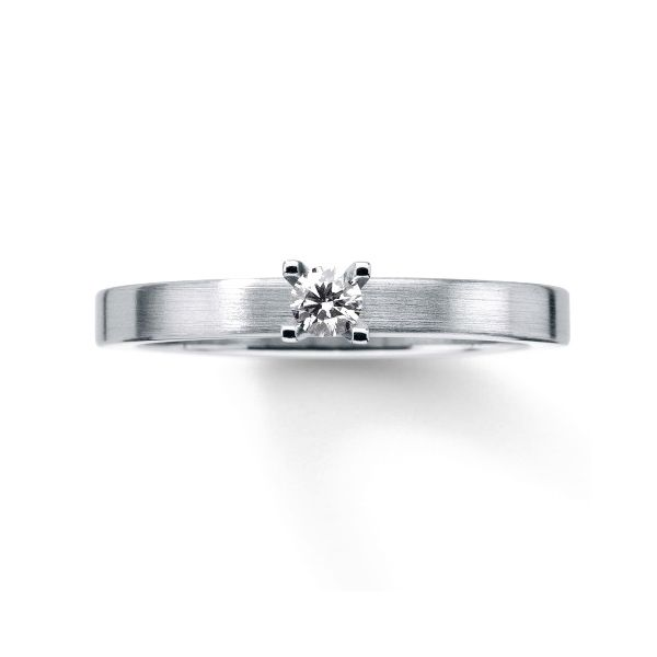 Line Diamond Engagement Ring Image 3 Hamilton Hill Jewelry Durham, NC