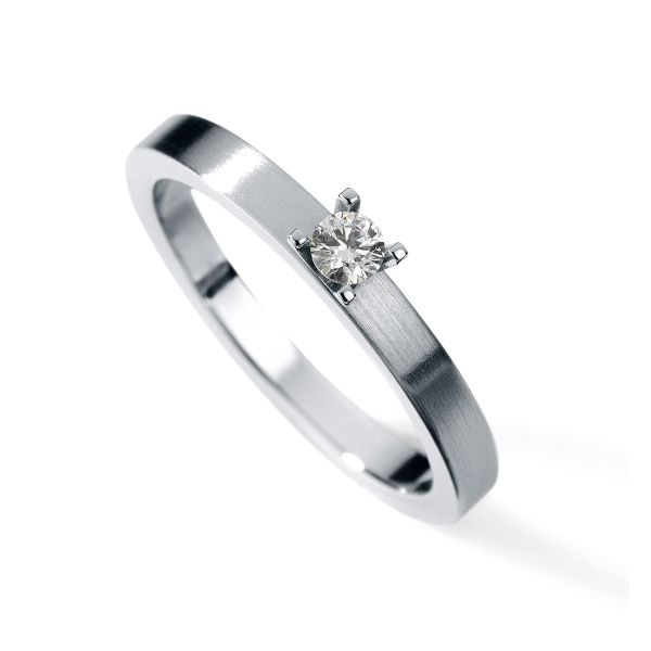 Line Diamond Engagement Ring Hamilton Hill Jewelry Durham, NC