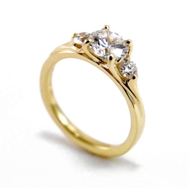 Rainier Three Stone Engagement Ring Hamilton Hill Jewelry Durham, NC