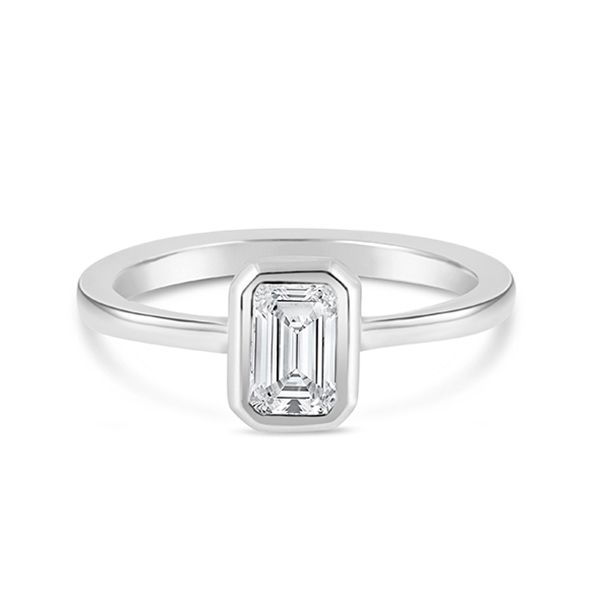 Emerald-cut Engagement Ring Hamilton Hill Jewelry Durham, NC