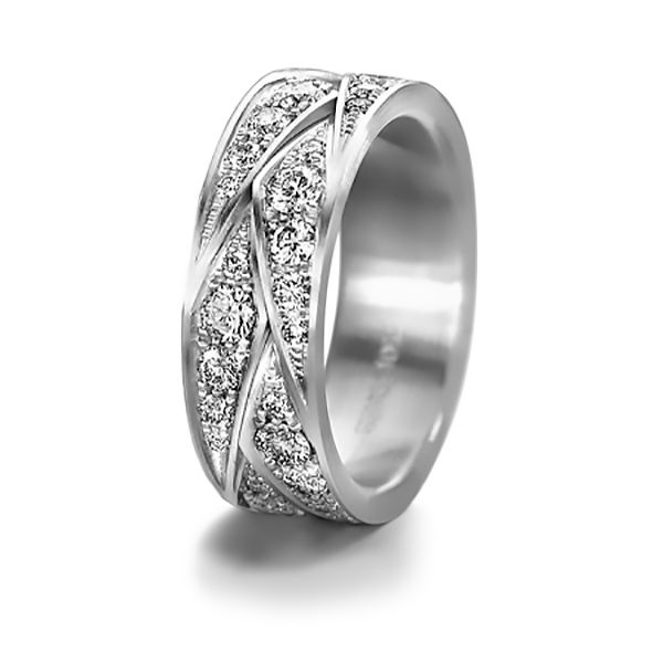 Eternels Wedding Band with Diamonds Hamilton Hill Jewelry Durham, NC