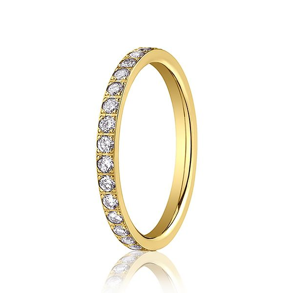 Half Diamond Eternity Ring Hamilton Hill Jewelry Durham, NC